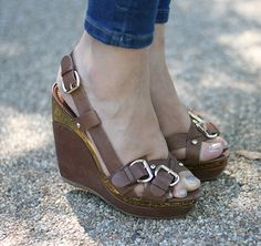 brown and gold sandals, sandálias lanidor