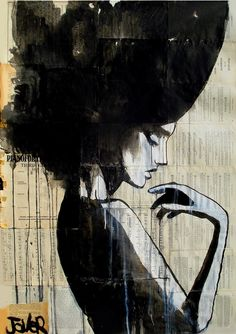 "Loui Jover; Pen and Ink, 2013, Drawing ""bathsheba"""