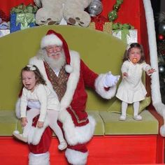 I give up!!   22 Kids Who Are Totally Over Taking Their Photo With Santa