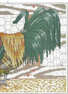 Crafts & Cia: Roosters in cross stitch