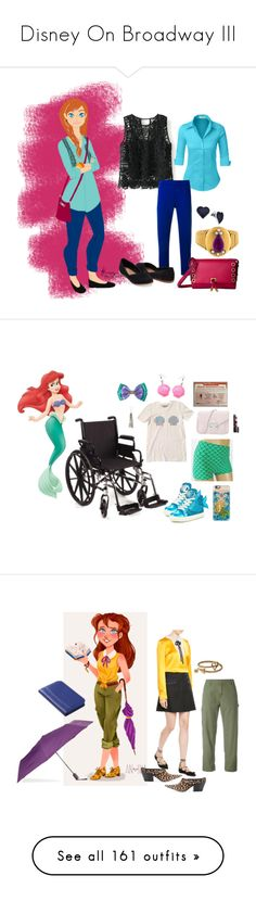 """""""Disney On Broadway III"""" by misssally ❤ liked on Polyvore featuring WithChic, LE3NO, P.A.R.O.S.H., Ivanka Trump, TOMS, BillyTheTree, Disney, Miss KG, Loeffler Randall and Elizabeth Arden"""