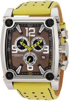 Akribos XXIV Men's AK415YL Conqueror Swiss Quartz Yellow Chronograph Watch $145.99 (save $764.01) + Free Shipping