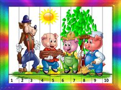 tri prasiatka Math Games, Math Activities, Maths Puzzles, Three Little Pigs, Preschool Books, Nursery Rhymes, Fairy Tales, Crafts For Kids, Children