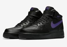 """Updated on September 21st, 2017: The Nike Air Force 1 Mid """"Black Leather"""" Pack is available now at Nike. Along with the Nike Air Force 1 Low """"Black Leather"""" pack, the Air Force 1 Mid is also getting its own … Continue reading →"""