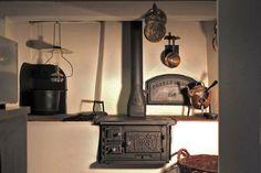 Westbo Ornament cucina svedese in ghisa incassata in basamento di muratura