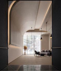 Showroom Interior Design, Diy Interior, Interior Styling, Ceiling Design, Wall Design, Architecture Details, Interior Architecture, Wall Cladding Designs, Halls
