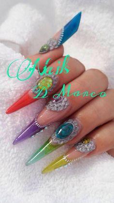 #nails #acrilic #gems #manderley #gotadearte #swarovski #elements #organicnails
