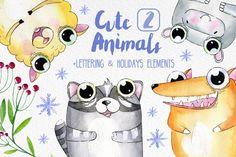 Cute Animals 2 by Alina-Sh on @creativemarket
