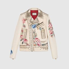 GUCCI Hand-Painted Leather Biker Jacket. #gucci #cloth #men's leather