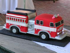 Fire Truck Cake 5 by Honey Punch Studios, via Flickr