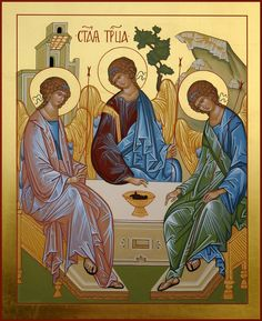 Holy Trinity Byzantine Icons, Byzantine Art, Early Christian, Christian Art, Religious Icons, Religious Art, Orthodox Catholic, Greek Icons, Blessed Mother Mary