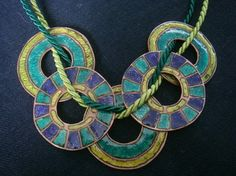 Enamel Necklaces - linda thomas enamel artist