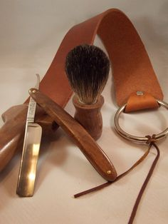 Straight Razor Shaving Kit by FyrewoodDesigns on Etsy, $129.99