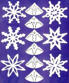 Love paper snowflakes but need some ideas to get started? Check out my earlier posts on 6 point snowflakes. Here are a few more template to help you design your own pattern (Diy Paper Snowflakes) Christmas Crafts For Kids, Christmas Projects, Christmas Fun, Holiday Crafts, Christmas Decorations, Origami Christmas, Paper Snowflake Template, Paper Snowflake Patterns, Snowflake Designs