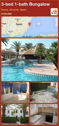 3-bed 1-bath Bungalow in Denia, Alicante, Spain ►€155,000 #PropertyForSaleInSpain