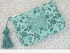 Butterfly Coin Purse by Nichole Heady for Papertrey Ink (March 2014)