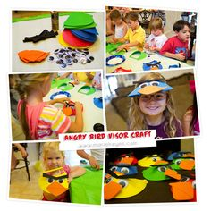 angry bird visor birthday party craft