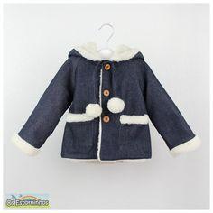 Warm Navy blue denim winter coat