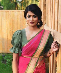 Stylish Blouse Design, Sari Blouse Designs, Designer Blouse Patterns, Fancy Blouse Designs, Sleeves Designs For Dresses, Sleeve Designs, Saree Blouse, Ruffle Blouse, Hustle