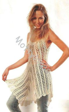 Patrón #1418: Vestido a Crochet | CTejidas [Crochet y Dos Agujas]