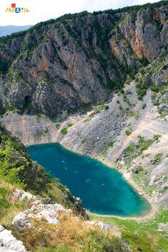 The Blue lake, Imotski, Croatia...