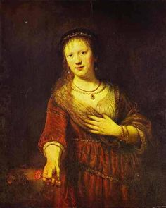 Baroque Art — Saskia at Her Toilet, Rembrandt Van RijnMedium:...