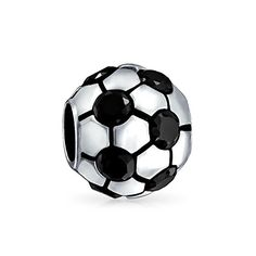 Bling Jewelry Black CZ Soccer Ball 925 Sterling Silver Sports Bead Pandora Compatible >>> Details can be found by clicking on the image.