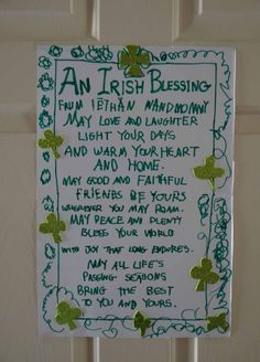 Irish Blessing poster for St. Patrick's Day!
