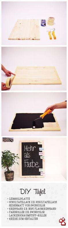 Kreidetafel selber machen? Geht ganz einfach mit unserem Tafel DIY. :)