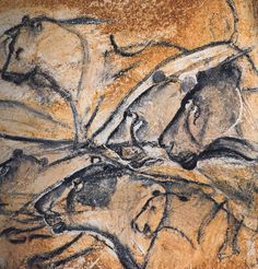 Prehistoric cave paintings form the Chauvet Cave in Southern France. Discovered in 1994, the Chauvet Cave is significant for its almost completely intact cave drawings that appear on its walls. Through carbon-dating, it was discovered that the earliest drawings in Chauvet Cave date back 32,000 years.