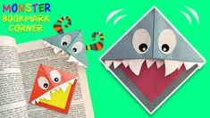Do you like monsters (who don't?!?)  How to make easy bookmark corners as cute monsters!  Watch and learn in easy steps. Don't forget to subscribe for easy paper crafts for kids. Paper Crafts For Kids, Diy Paper, Diy Crafts, Paper Bookmarks, How To Make Bookmarks, Monster Bookmark, Cute Monsters, Make It Simple, Don't Forget