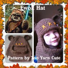Ravelry: Wilderness Bear Hood (ewok inspired) pattern by Too Yarn Cute