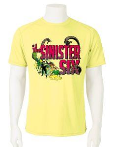 ebff2a8f9 Sinister Six Dri Fit graphic Tshirt moisture wicking superhero comic SPF tee  - Athletic Apparel