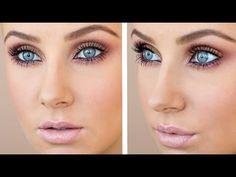 Lauren Curtis YouTube tutorial for `date night`smokey plum and gold makeup. <3