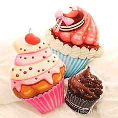 Magnifiques Ice Cream cup cakes plush toys pillow !