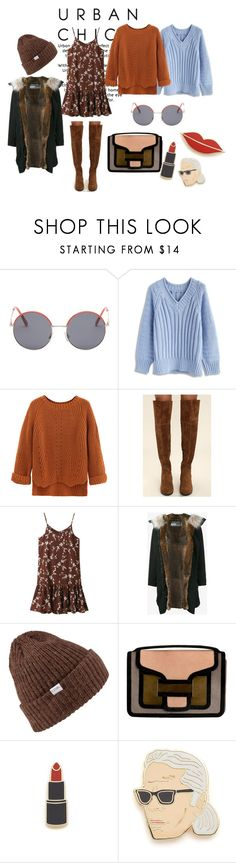 """urban floral chic"" by cappuccino-bez-sahara on Polyvore featuring Vans, Chicwish, WithChic, Breckelle's, Army Fur by Yves Salomon, Coal, Pierre Hardy and Georgia Perry"