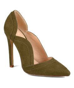 Another great find on #zulily! Journee Collection Olive Scalloped Adley Pump by Journee Collection #zulilyfinds