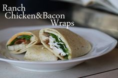 chicken bacon ranch wraps
