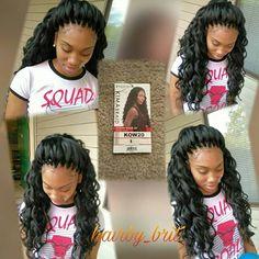 53 Box Braids Hairstyles That Rock - Hairstyles Trends Curly Crochet Hair Styles, Crochet Braid Styles, Curly Hair Styles, Natural Hair Styles, Crotchet Braids, Crochet Braids Hairstyles, Weave Hairstyles, Unique Hairstyles, Ponytail Hairstyles