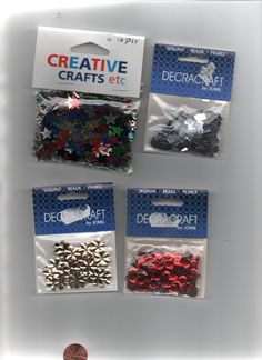 Bag of assorted SEQUIN embellishments Creative Crafts, Pearl Beads, Embellishments, Sequins, Pearls, Bag, Ornaments, Beads, Crafts