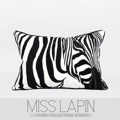 现代简约/样板房家居软装设计师沙发靠包抱枕/黑白斑马绣花腰枕-淘宝网