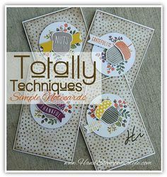 totally techniques class acorny thank you note cards feat. distress sponging technique