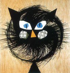 Armando Testa, Gatto, 1960 Italian Art, Art Director, Mixed Media, Graphic Design, Vintage, Visual Communication, Mix Media, Mixed Media Art