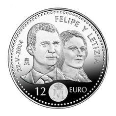 Moneda conmemorativa 12 euros 2004 (Boda Principe)., Tienda Numismatica y Filatelia Lopez, compra venta de monedas oro y plata, sellos españa, accesorios Leuchtturm