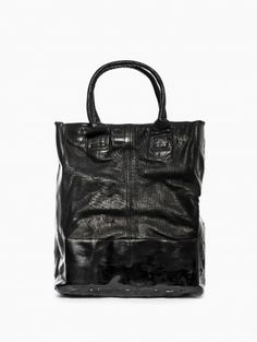 Long leather bag from the S/S2014 oXs Rubber Soul in black