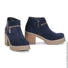 739ba076 Botas De Otoño, Botines De Caña Corta, Botas Zapatos, Zapatos Bonitos,  Zapatos