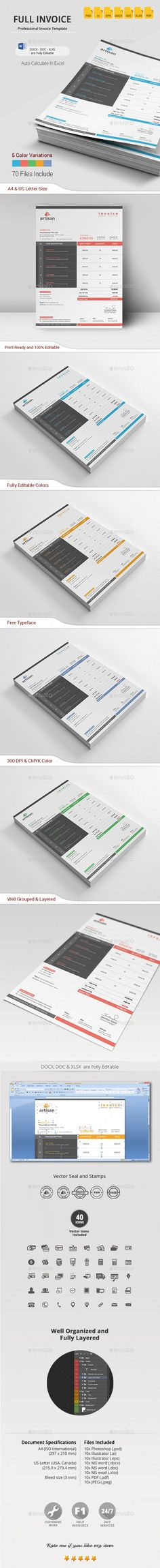 Offer and Packing and Invoice Template Vol1 by Omar Waleed, via - product invoice template