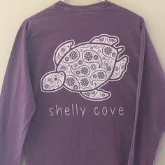 Berry Paisley Long Sleeve Pocket Tee - Shelly Cove