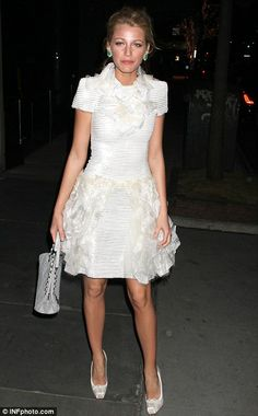 White Swan: Blake Lively attends a dinner party hosted by Chanel in her honour in New York