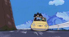 Lupin III: The Castle of Cagliostro gif Car Animation, Satoshi Kon, Arte Nerd, Lupin The Third, How To Make Animations, Funky Art, Old Anime, Animation Background, Hayao Miyazaki